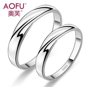 Intertwined love couple rings 925 Sterling Silver Ring Men Women Korean version of the influx of people ring free lettering