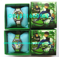 Wholesale 20 pcs Ben 10 cartoon watch Wristwatches with boxes+Free Shipping