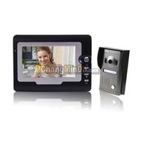 """SY810MF11 7"""" TFT Touch Screen Color Display Video Door Phone Doorbell (Black)"""