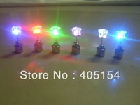 New design 100pcs/lot(50pairs) 20*7mm 6color led stud earring light up earring fashion earring