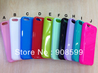 Colorful thick case For iphone 5C Soft cover, High quality TPU cover case For iphone 5C 500 PCS/LOT By DHL Free shipping
