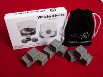 18pcs(2sets)  Whisky stones with delicate box+velvet bag,whiskey rocks,beer stone,whiskey ice stone,wine cube,Free shipping