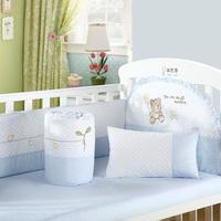 Newborn 100% cotton baby bedding kit crib six pieces set