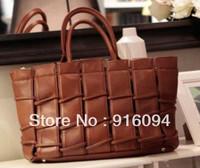 Mango  Retro casual knitted PU 2013 street big handbag bag women's bag cross-body bags new fashion  design free shipping