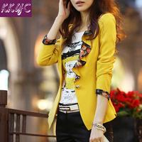Hot sale women blazer feminino Black Red Yellow blazer new 2014 spring plus size suit jacket blazer women blaser and jackets