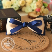 Blue small fresh hot-selling handmade bow hair clip accessory hairpin a039