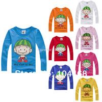2014 New watermelon child autumn cap male female child baby long-sleeve T-shirt 100% cotton Children's T-Shirt free shipping