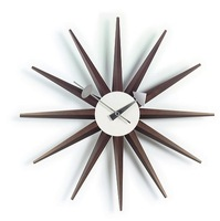 DIY clock/ Walnut limited edition wall clock/George nelson for desing/free shipping