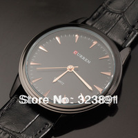 new free shipping fashion Curren for mens genuine leather wrist quartz watch 4 color choose