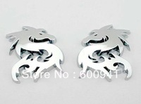 1pair  Dragon Car Motor Auto 3D Badge Emblem Sticker  Hood Grille Bumper Trail Boot Trunk 4.9cm