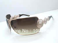 Free shipping fashion vintage classic big box women's sunglasses SCH696