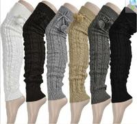201345JSF 6 color can choose sexy women's wool piles loose socks knee twist Leg Warmers 3pair/lot
