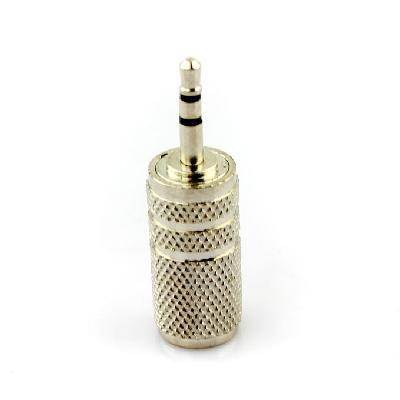 Wholesale Freeshipping,10pcs/lot 3.5mm Female jack to 2.5mm Male Plug Audio Adapter Converter Silver,100% Brand New and Quality(China (Mainland))