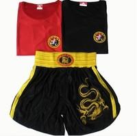 Embroidery satin sanda suit boxing shorts dress clothes muay Thai martial arts performance