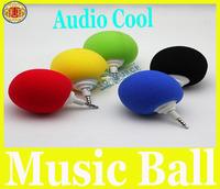 Mini Music Sponge Ball Speaker Sponge+ABS Mini USB Travel Speaker for MP3 MP4 Cell Phone Notebook Free Shipping