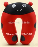 Comfort Foam Particles U Neck Travel Pillow Cute Cartoon Pattern - Ladybug
