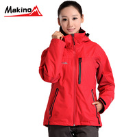 Makino ma spring and autumn outdoor jacket fleece hiking clothing Women twinset