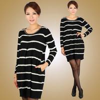 Missports.com 2013 spring casual stripe beading pocket women's one-piece dress Sweaters