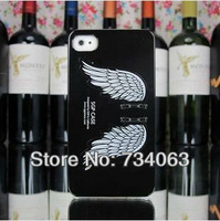 Angle Wings Candy Jelly Color Case Piano Lacquer Ice Cream Back Case with Stand Cover for iPhone 5G 5 Free Shipping MOQ:1(PG186)