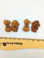 50pcs Boy And 50pcs Girl Home decor Vintage sewing bulk wooden buttons wood button mixed for crafts