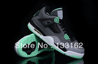 Free shipping Wholesale 2013 New Super High Quality J4 New Color Green Grassland Sneakers Men's Basketball Shoes 41-46