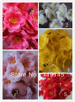 300pcs 6cm wholesale  Artificial silk peach blossom plum blossom diy flower dance props