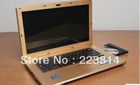 business computer 14inch laptop  4gb/500gb hd  intel Atom Dual core 1.86GHz  with DVD-RW wifi DHL free to USA