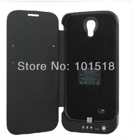 New 3800mAh External Backup Battery Leather Case For Galaxy S4 i9500 Power Bank