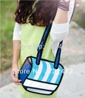 2014 new designed unisex 2d 3d comic shoulder bag gismo cartoon bag carry in space handbag free shipping 3d messenger bag