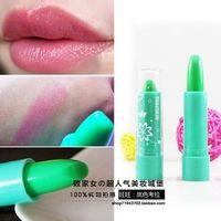 Color changing lipstick mint green buddhistan red lipstick waterproof