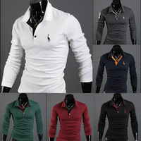 Mens Casual Premium Slim FIT Stylish Long Sleeves  Shirts Tops TEE T Shirt