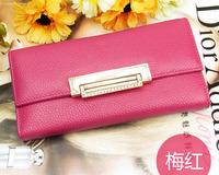 2014 Fashion Classic Genuine leather cowhide women's /lady wallet wallet day clutch diamond long design