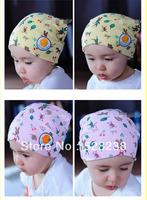 Spring 100% cotton baby skullies hats 2.99$/pcs three color