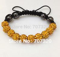 Min.Order ( $9.9 mixed) Shamballa Bracelets 10mm Crystal Ball Shambala Jewelry New Arrivel Mix Colors Options Bs7137A