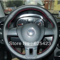 High Quality! Retail Lavida Steering Wheel Genuine Leather Refires Sew On Genuine Leather Steering Wheel Cover