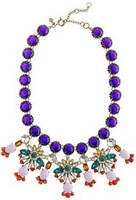 Free shipping Fashion colorful shining Rhinestone J.C women statement necklace 2013 Flower jewelry pendant necklaces gift 8548