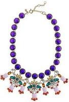 Free shipping Fashion colorful shining Rhinestone J.C women statement necklace 2013 Flower jewelry pendant necklaces gift 8548