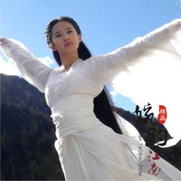 Little dragon costume nv cos costume white fairy  chinese ancient costume photograph costume