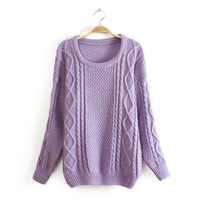 8 colors Autumn and Winter lades' fashion brief o-neck pullover knitted sweaters 1 piece free shipping