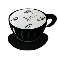 Free shipping Home Wall Art Decoration Modern Coffee Cup Design Silence Acrylic quartz Wall Clock Retail