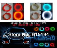 Free Shipping 2 Meters Car Strip Line Lamp Car Led Strip  3d el Cold Light EL Sheet Auto Accessories Interior Decorative Lights