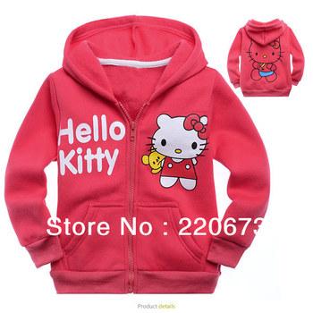 6pcs/lot Free shipping 2013 autumn new style hello kitty girl clothing children hoodies, children's sweatshirts