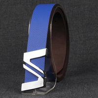 Men's belt Men belt casual fashion belt male personality letter all-match the trend of the strap