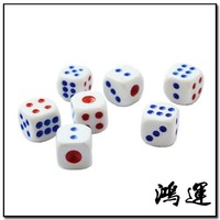 Free Shipping 100pcs Cheap General 13mm Bosons Boulimia Number Dice Set For Game