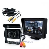 "4.3"" TFT LCD Color Monitor+ IR Back Up Camera Car Van Wireless Rear View arparking reaversing kit"