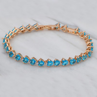 Free shipping Wholesale AAA Zircon & Crystal Onxy 18K k Gold Plated Bracelets Health Nickel & Lead free Fashion jewelry TB059