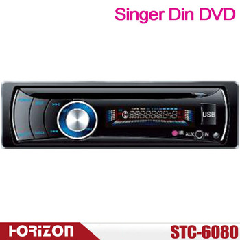 STC-6080 1 DIN Car DVD Player Support CD, USB, SD MMC Card Compatible with DVD/MP4/ CD/ MP3/ WMA/JPEG/ID3 TAG