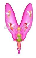 Free shipping 50pcs/lot Mix color  Foil balloon,Helium balloon Tinkerbell Balloon