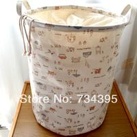 Large dirty clothes storage basket fluid storage bucket fabric tote storage basket box