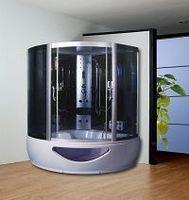Luxury double shower cabin sauna steam bathroom 1.3 meters 1.5 meters bathroom dual